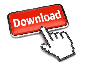 Download button and hand cursor