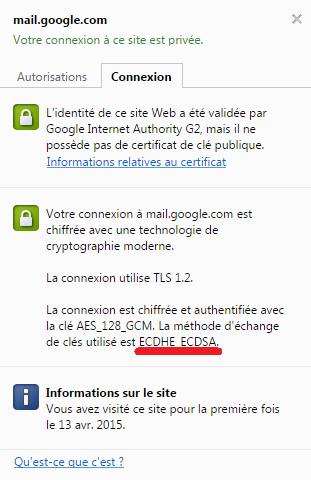 Certificat SSL de Gmail.
