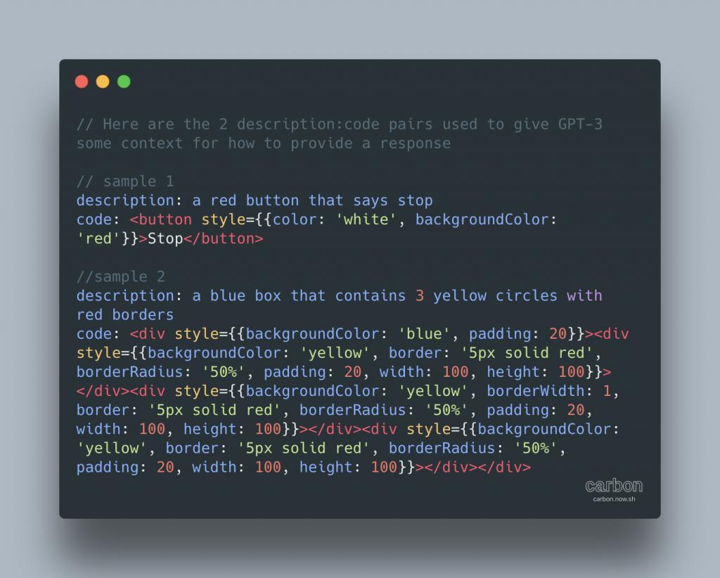 Om GPT-3 in te zetten als codegenerator moet je geschikte voorbeelden geven als prompt.
