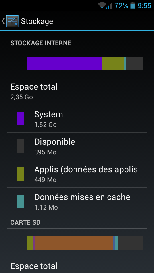 Android-capacité-stockage