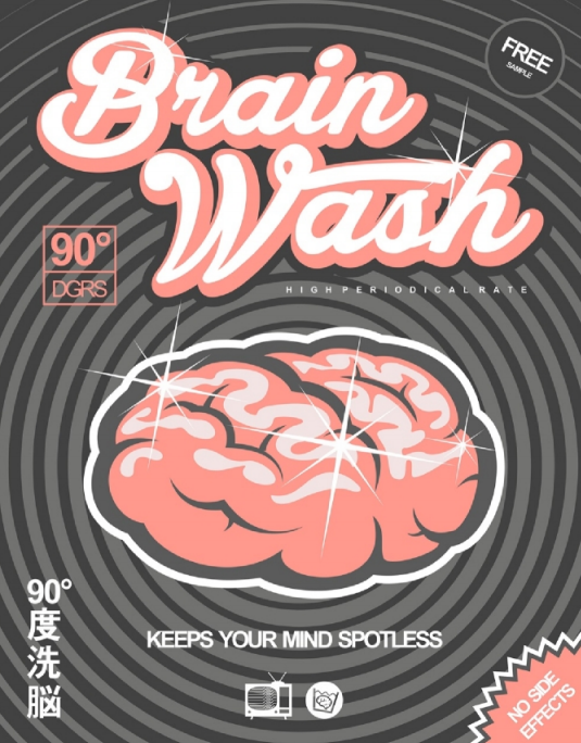 brain wash cartoon