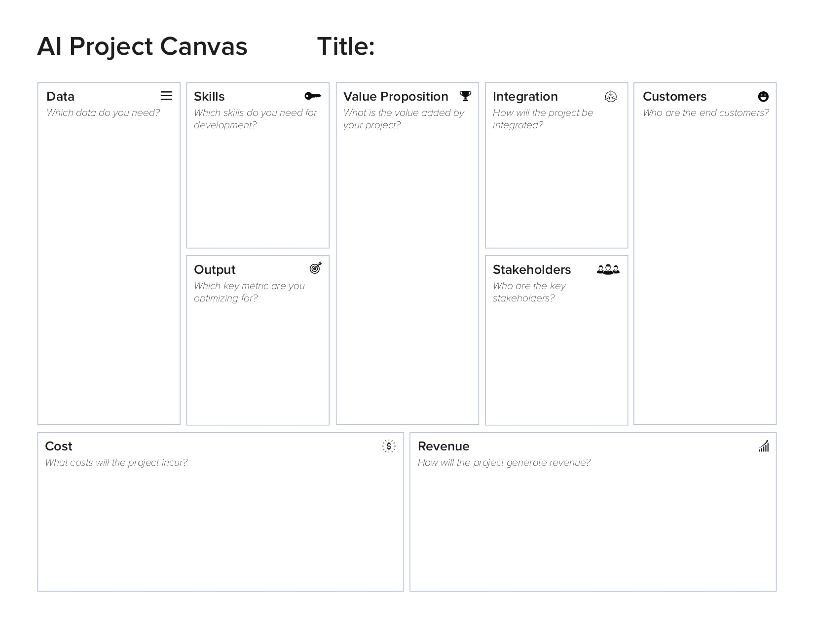 AI Project Canvas